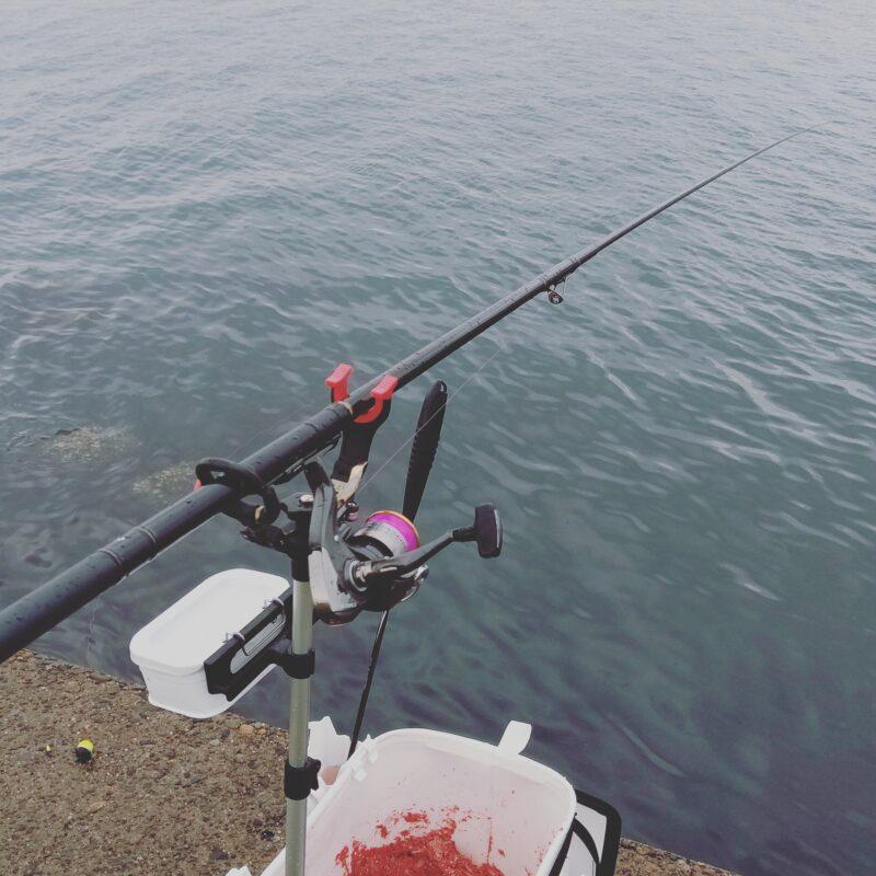 白で統一したフカセ釣りの道具達