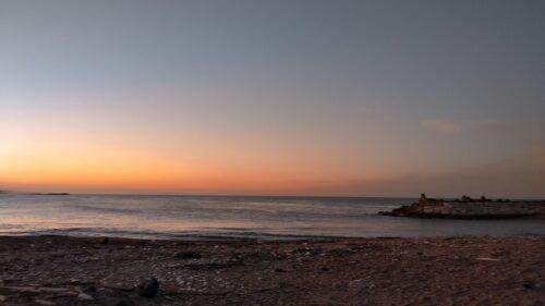 鹿島灘の夕焼け